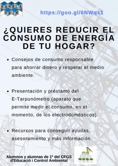 Flyer promocional de la web en castellano